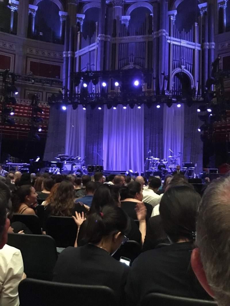 Royal Albert Hall, section: E, row: 16, seat: 25