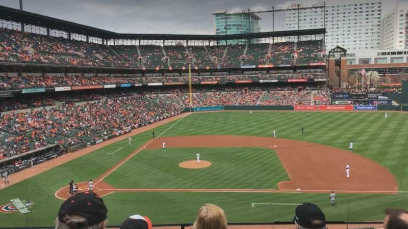 Seating view for Oriole Park at Camden Yards Section 222 Row 4 Seat 5