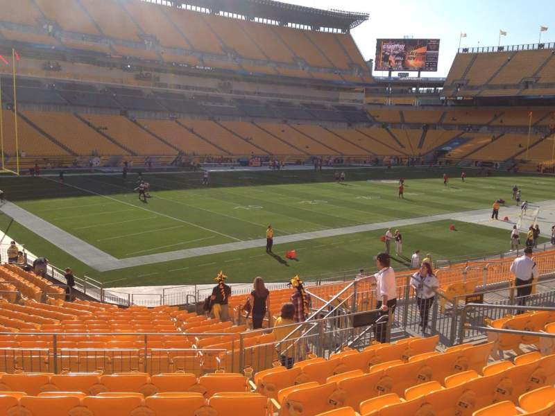 Seating view for Heinz Field Section 105 Row S Seat 10