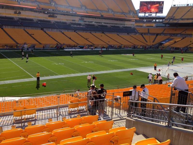 Seating view for Heinz Field Section 106 Row S Seat 10