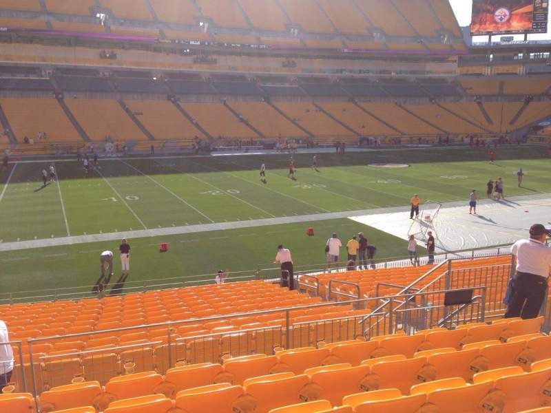 Seating view for Heinz Field Section 107 Row S Seat 10
