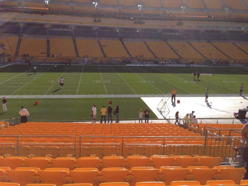 Seating view for Heinz Field Section 108 Row S Seat 10