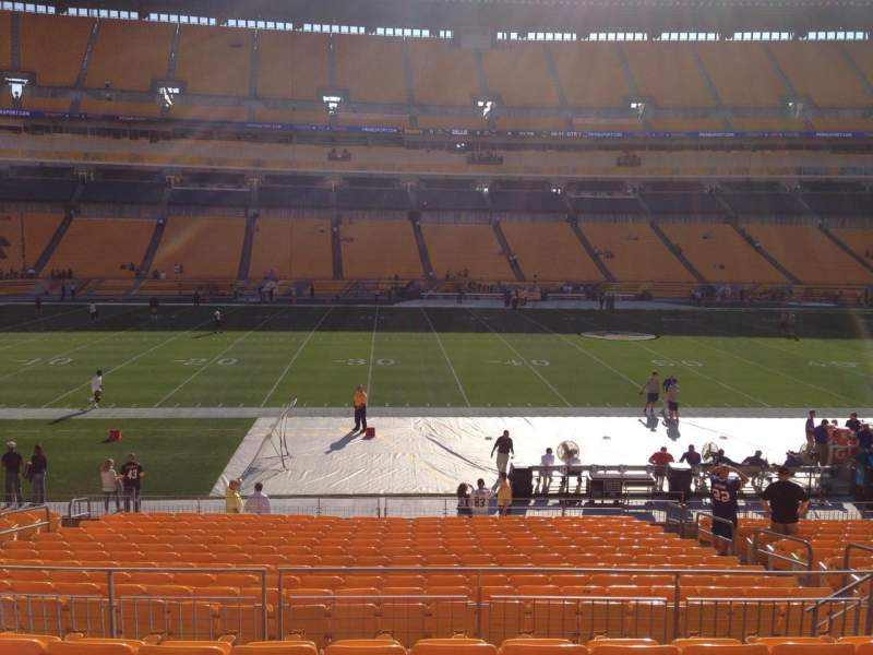 Seating view for Heinz Field Section 109 Row S Seat 10