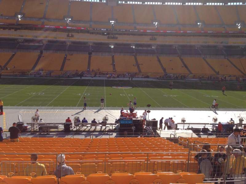 Seating view for Heinz Field Section 110 Row S Seat 10