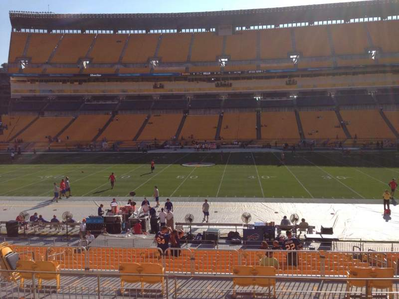 Seating view for Heinz Field Section 111 Row S Seat 10
