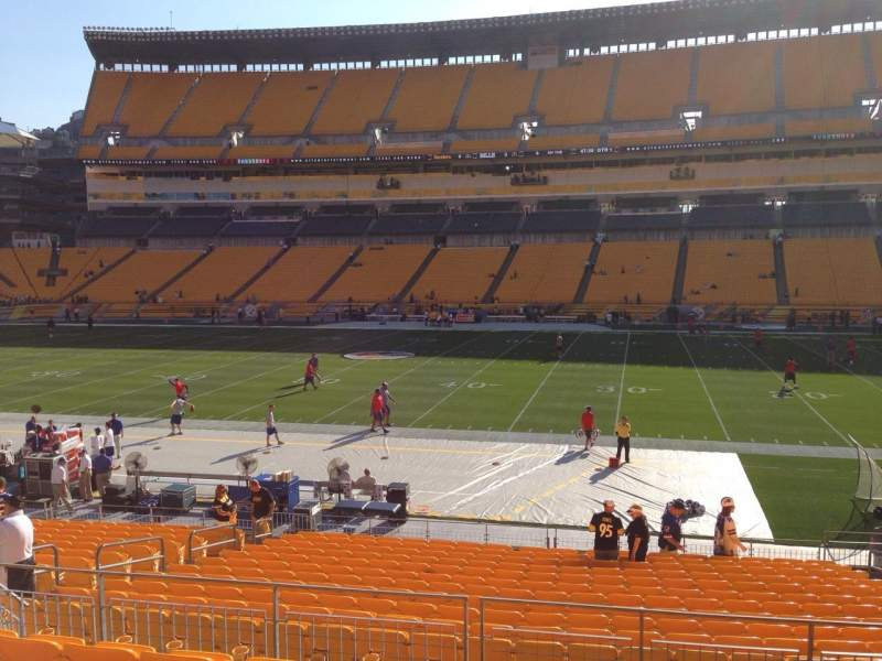 Seating view for Heinz Field Section 112 Row S Seat 10
