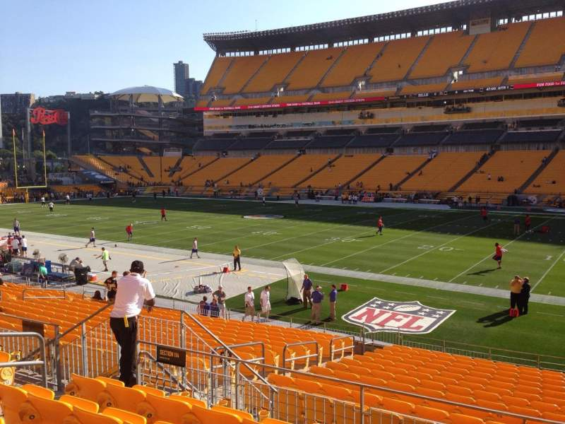 Seating view for Heinz Field Section 114 Row S Seat 10