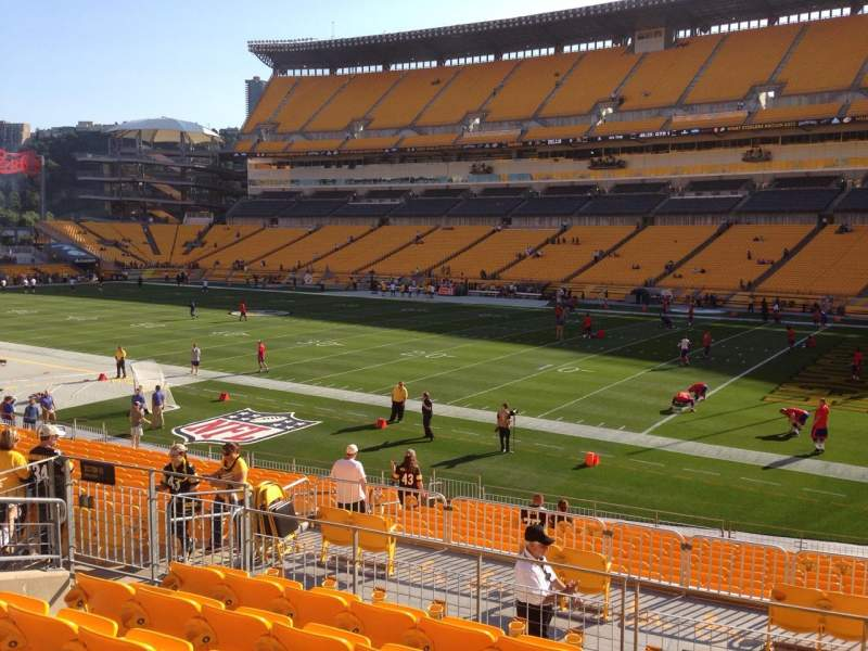 Seating view for Heinz Field Section 115 Row S Seat 10