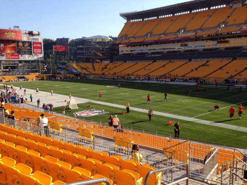 Seating view for Heinz Field Section 116 Row S Seat 10