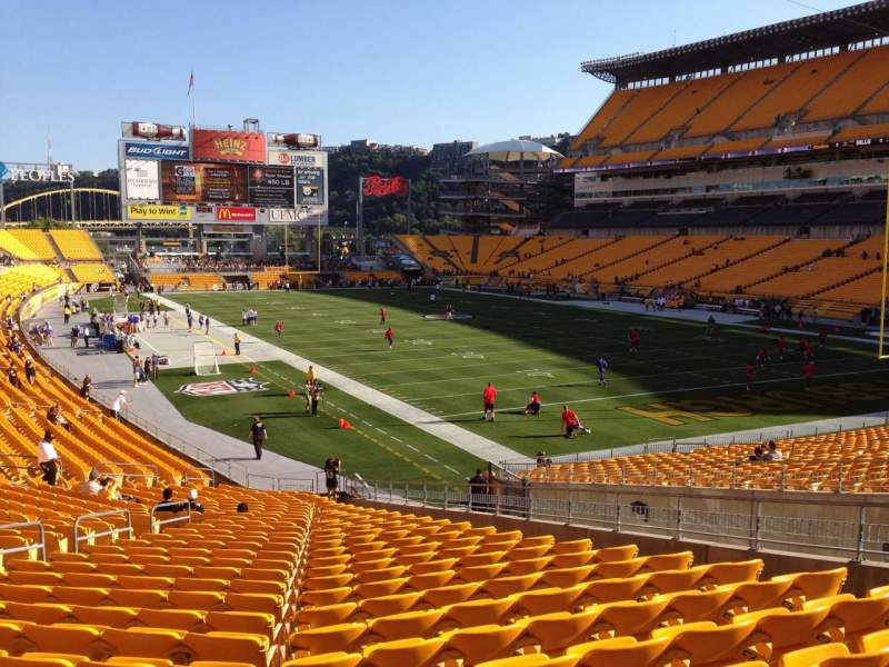 Seating view for Heinz Field Section 119 Row S Seat 10