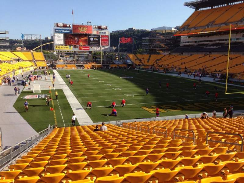 Seating view for Heinz Field Section 120 Row UU Seat 10