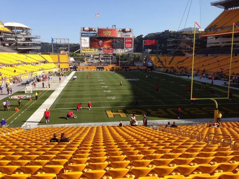 Seating view for Heinz Field Section 121 Row UU Seat 10