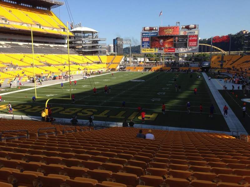 Seating view for Heinz Field Section 125 Row UU Seat 10