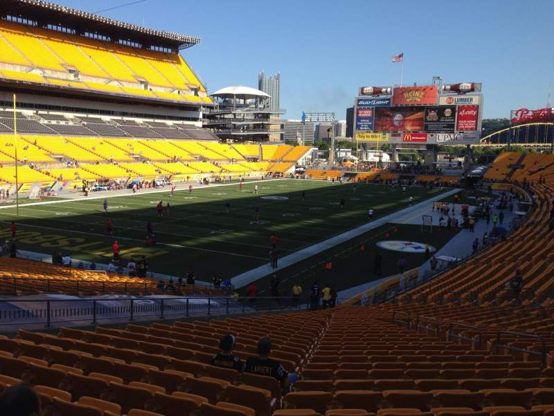 Seating view for Heinz Field Section 127 Row X Seat 10