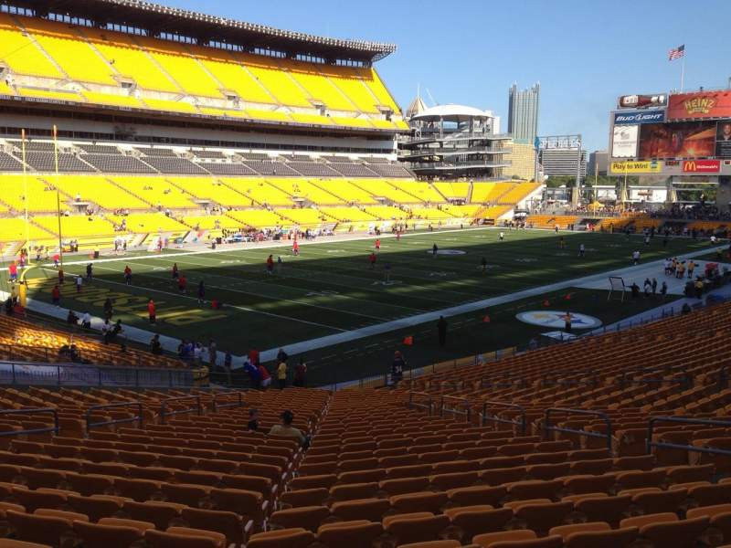 Seating view for Heinz Field Section 128 Row X Seat 10