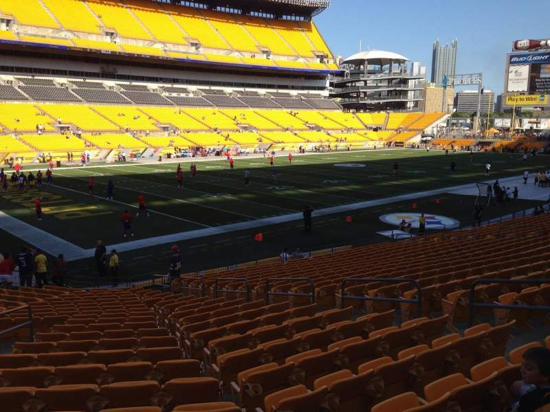 Seating view for Heinz Field Section 129 Row N Seat 10