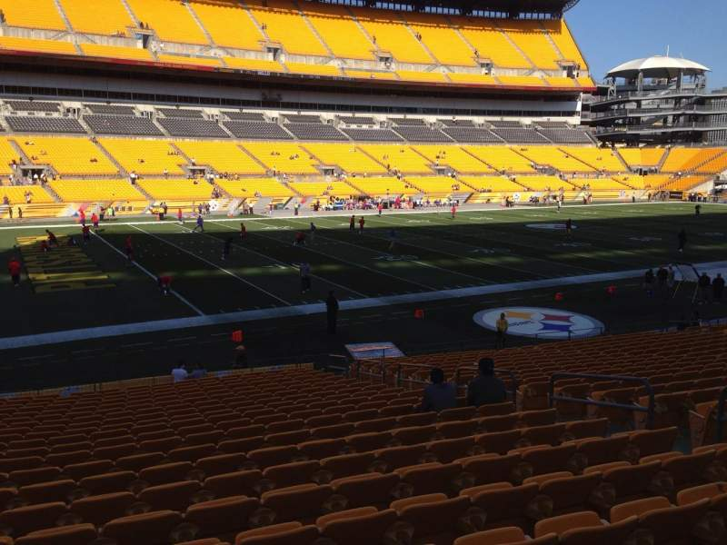 Seating view for Heinz Field Section 130 Row N Seat 10
