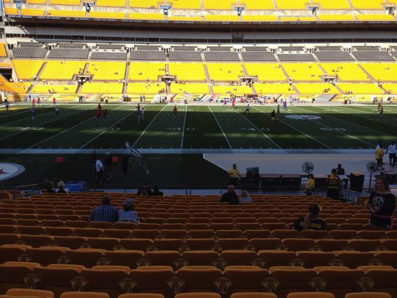 Seating view for Heinz Field Section 133 Row T Seat 10