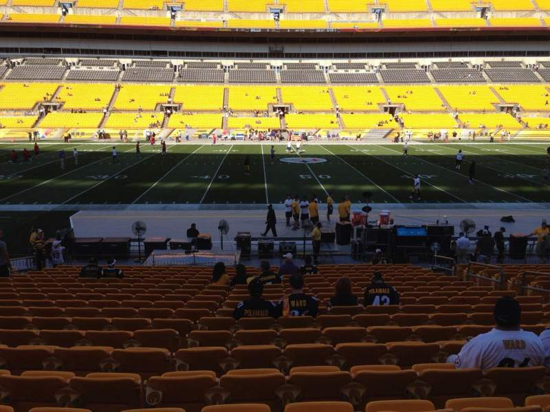 Seating view for Heinz Field Section 134 Row T Seat 10
