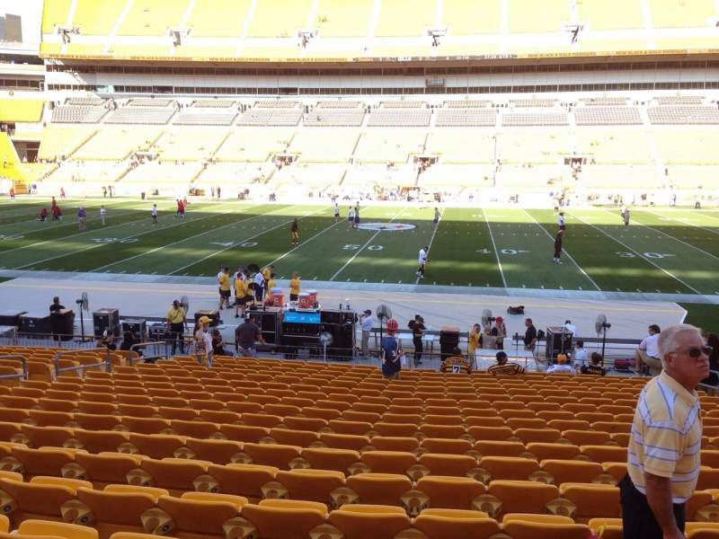Seating view for Heinz Field Section 135 Row T Seat 10