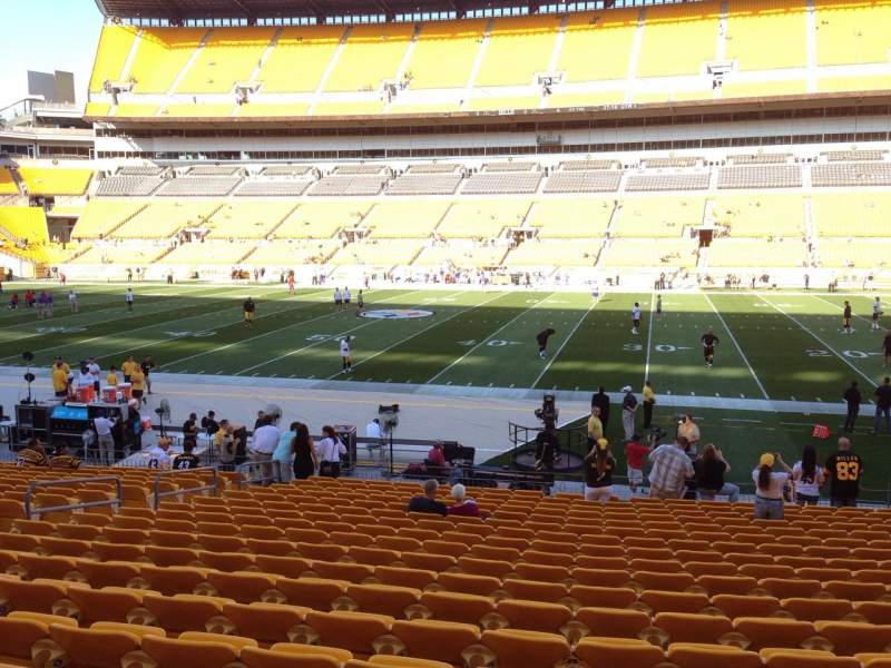 Seating view for Heinz Field Section 136 Row T Seat 10