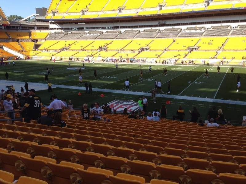 Seating view for Heinz Field Section 138 Row T Seat 10