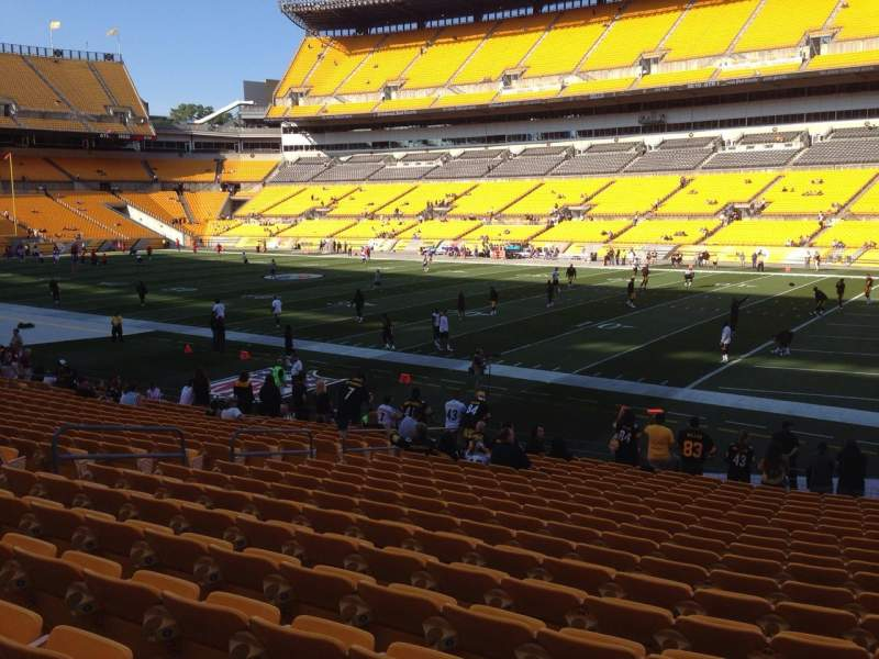 Seating view for Heinz Field Section 139 Row T Seat 10