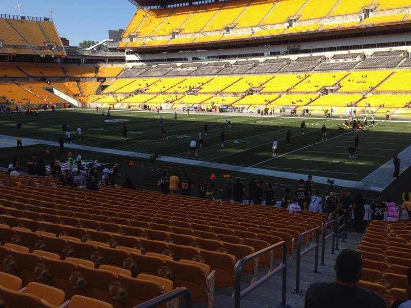 Seating view for Heinz Field Section 141 Row K Seat 9
