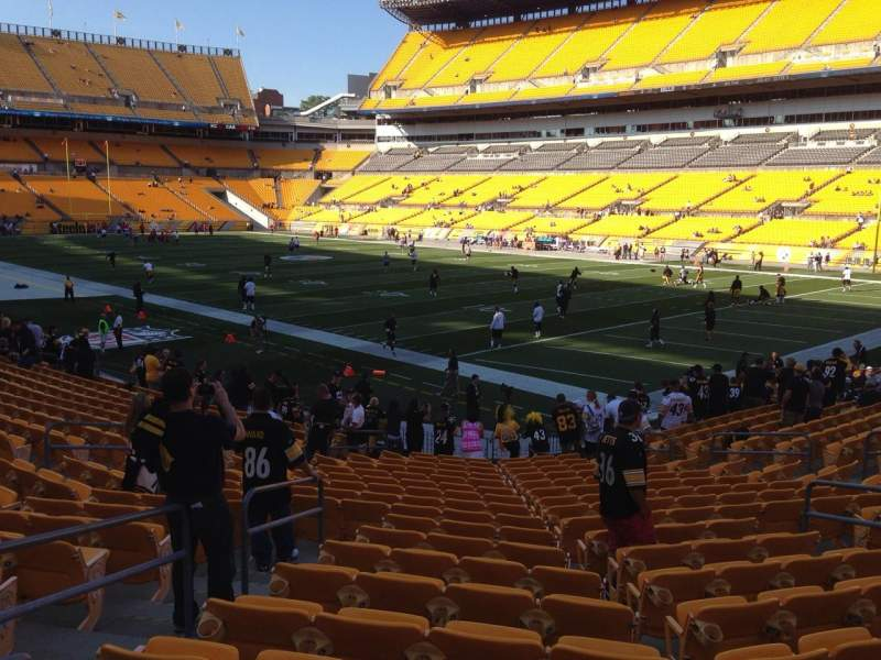 Seating view for Heinz Field Section 142 Row K Seat 9