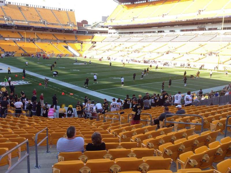 Seating view for Heinz Field Section 143 Row K Seat 9