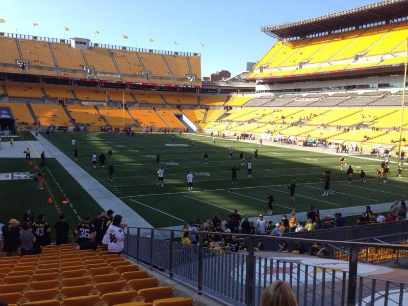 Seating view for Heinz Field Section 144 Row T Seat 9