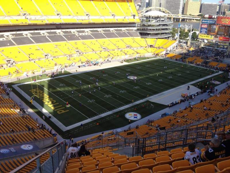 Seating view for Heinz Field Section 528 Row S Seat 10