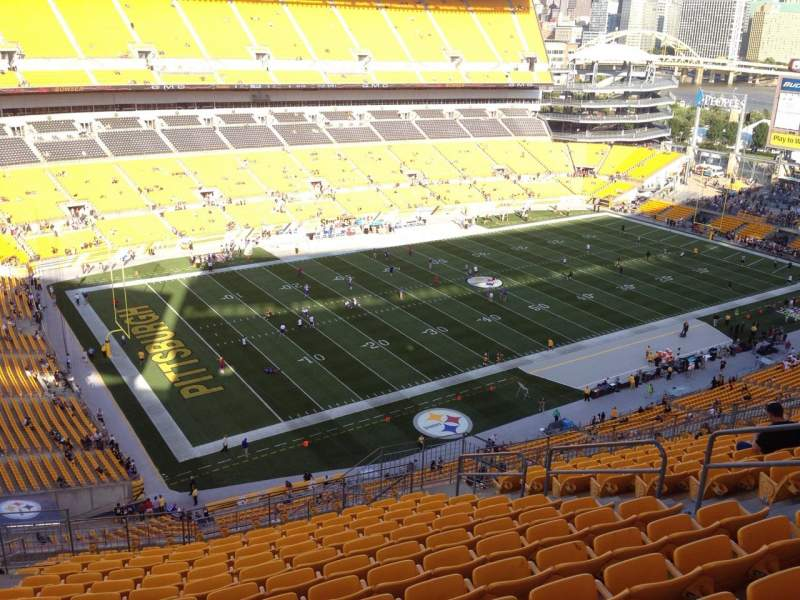 Seating view for Heinz Field Section 529 Row S Seat 10
