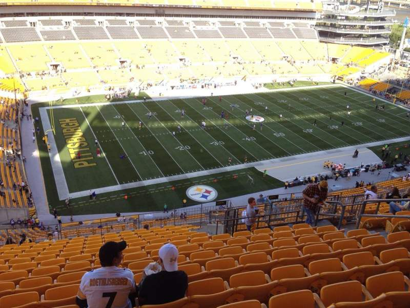 Seating view for Heinz Field Section 530 Row S Seat 10