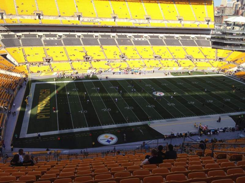 Seating view for Heinz Field Section 531 Row S Seat 10