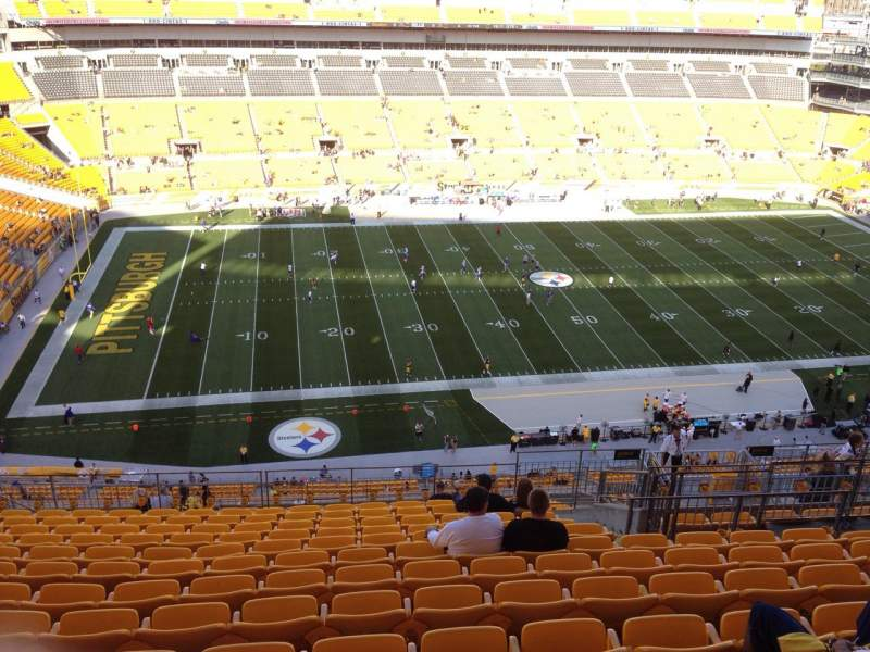 Seating view for Heinz Field Section 532 Row S Seat 10
