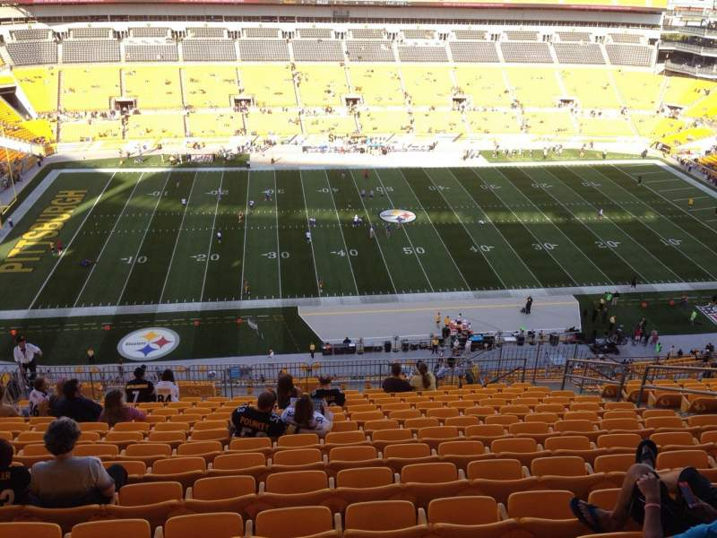 Seating view for Heinz Field Section 533 Row S Seat 10