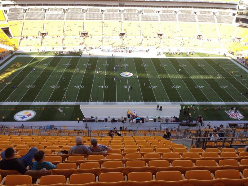 Seating view for Heinz Field Section 534 Row S Seat 10