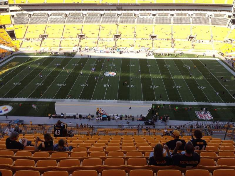 Seating view for Heinz Field Section 535 Row S Seat 10
