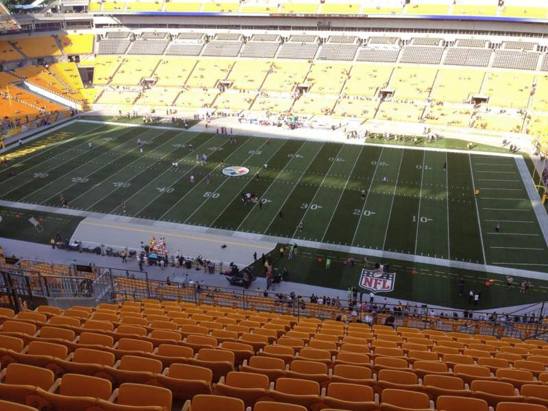 Seating view for Heinz Field Section 537 Row S Seat 10