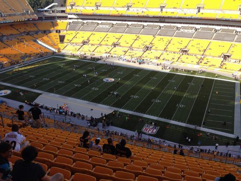 Seating view for Heinz Field Section 538 Row S Seat 10