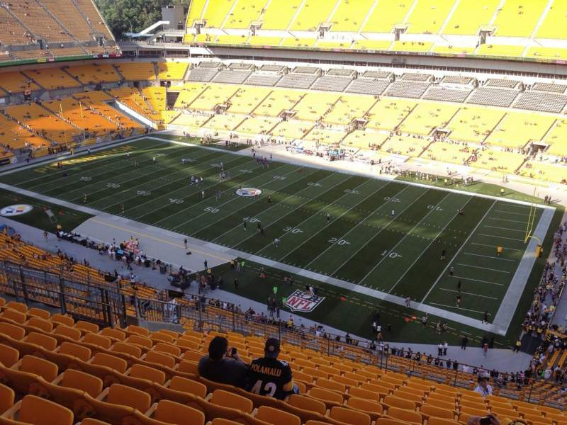 Seating view for Heinz Field Section 539 Row S Seat 10
