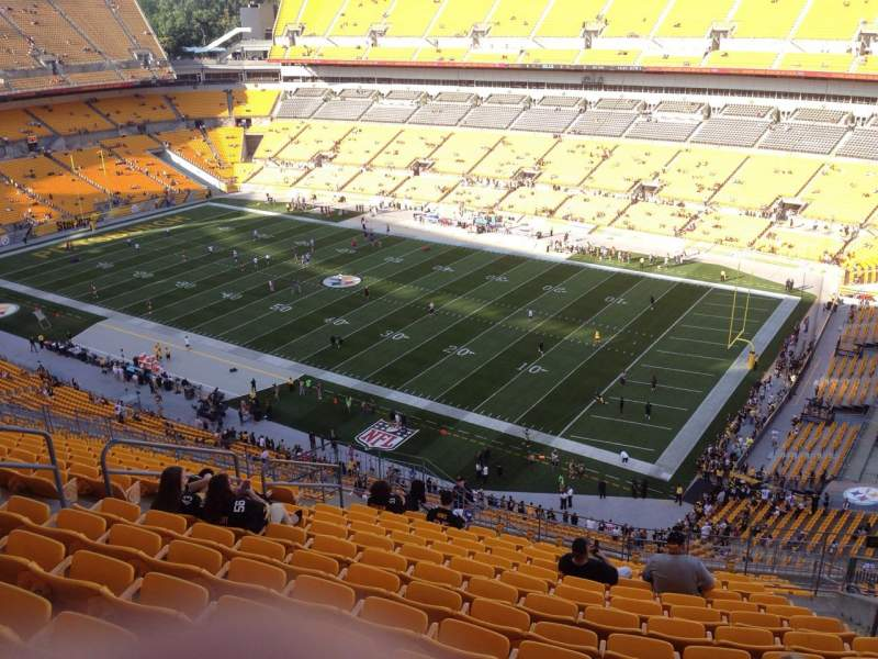 Seating view for Heinz Field Section 540 Row S Seat 10