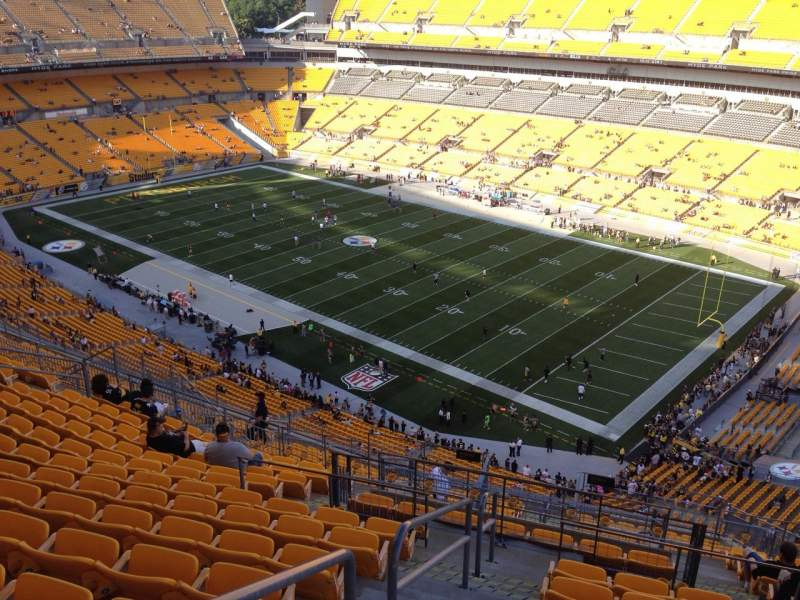 Seating view for Heinz Field Section 541 Row S Seat 9