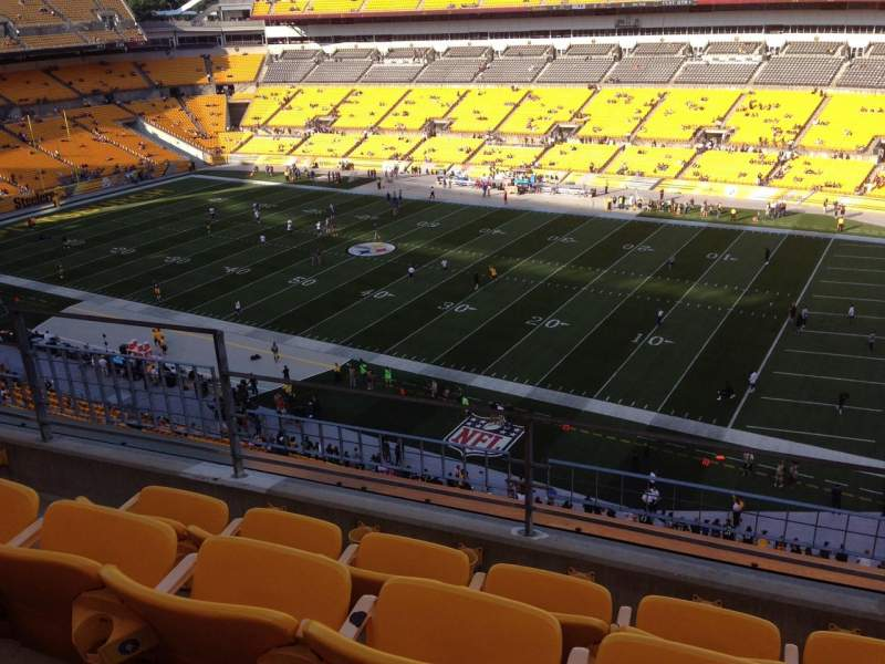 Seating view for Heinz Field Section 539 Row D Seat 19