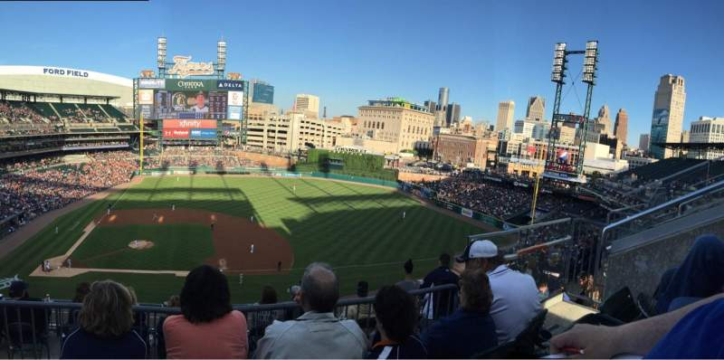 Seating view for Comerica Park Section 322 Row 3 Seat 8