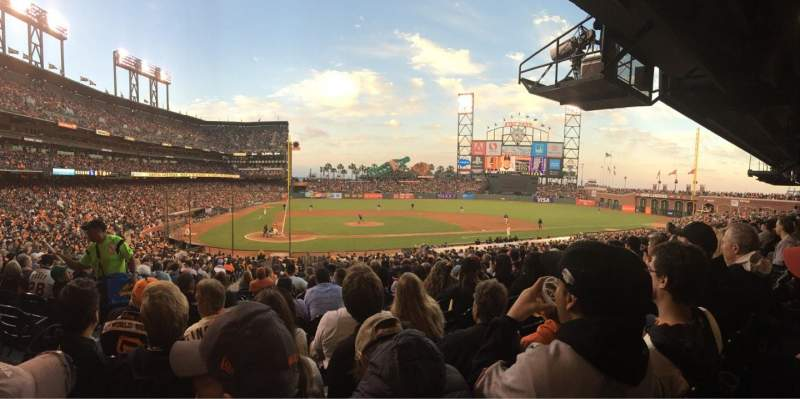 Seating view for AT&T Park Section 110 Row 33 Seat 15