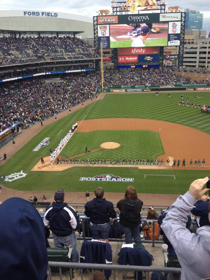 Seating view for Comerica Park Section 322 Row 3 Seat 11