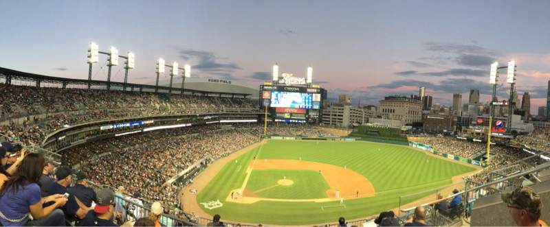 Seating view for Comerica Park Section 323 Row 4 Seat 10