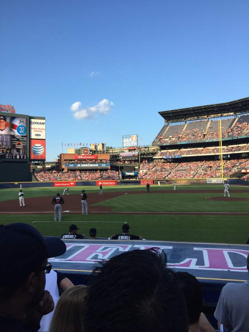 Seating view for Turner Field Section 112 Row 9 Seat 6